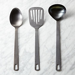 brushed black kitchen utensils