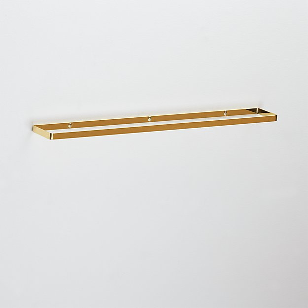 brushed brass towel bar 30""