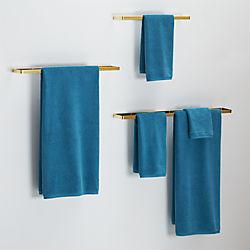brushed brass towel bars