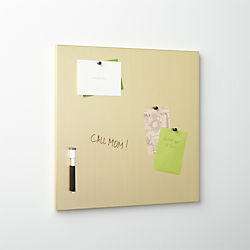 brushed gold magnetic-dry erase board