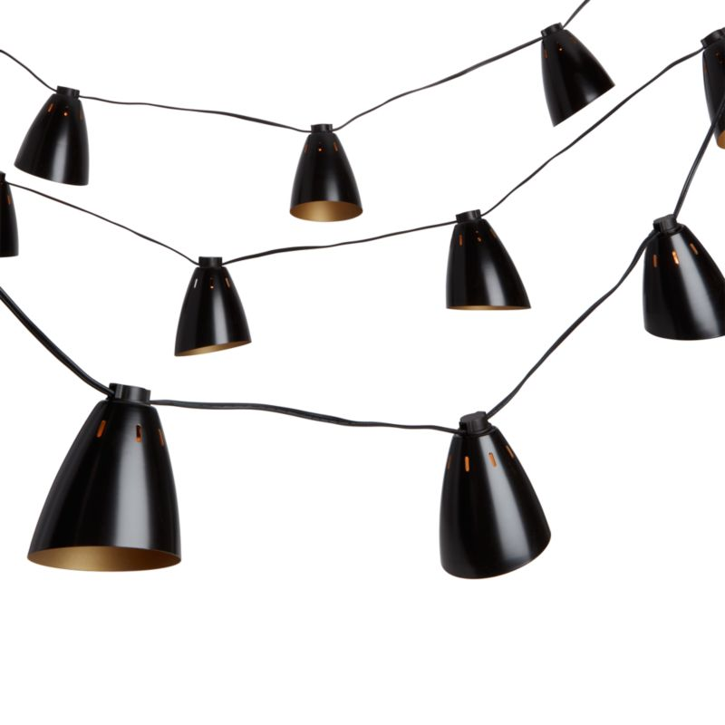 bullet lamp string lights CB2