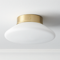 button flush mount lamp