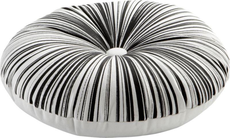 "button-up black-white 16"" pillow"