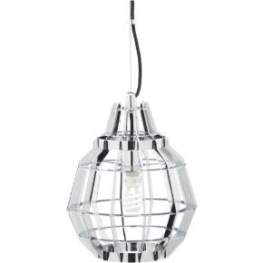 cage chrome pendant lamp