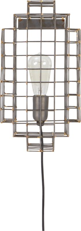 Wall Sconce With Cage : cage wall sconce CB2