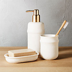 canvas bath accessories