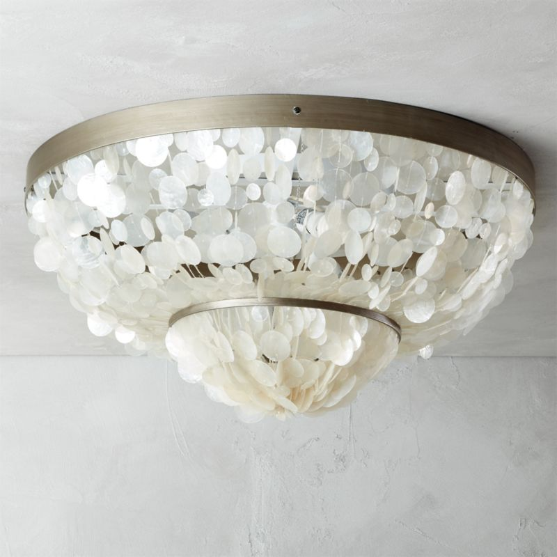 Capiz Flush Mount Lamp Cb2