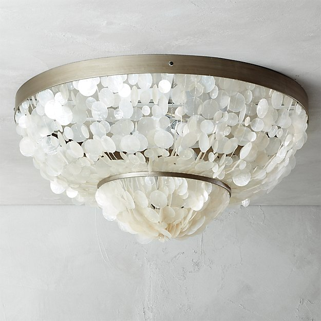capiz flush mount lamp