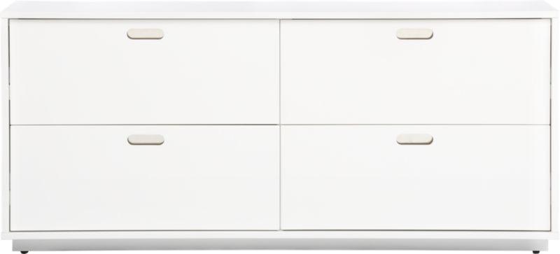 gloss white low dresser