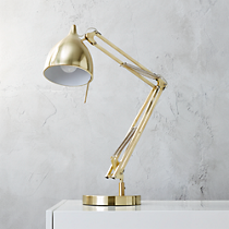 carpenter brass table lamp