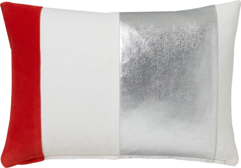 """celeb 18""""x12"""" pillow with feather-down insert"""