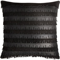"celia leather fringe 16"" pillow"