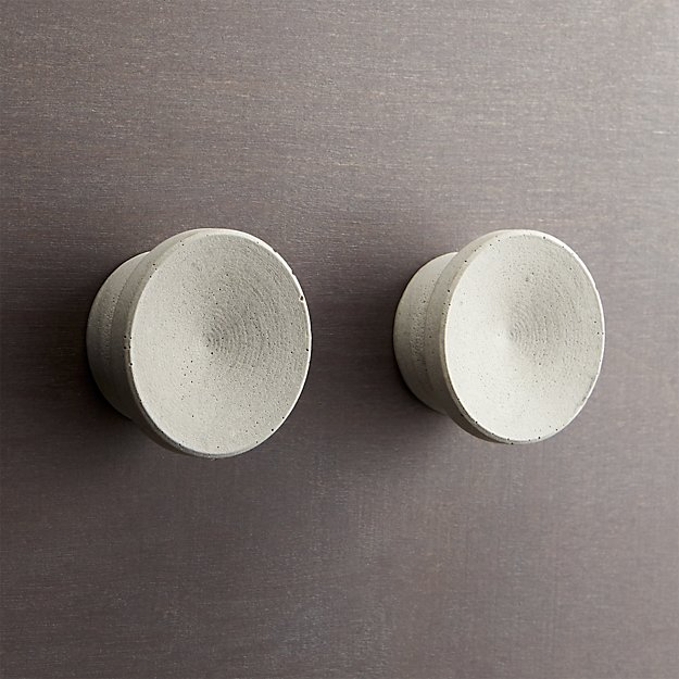 set of 2 kast cement disk drawer pulls