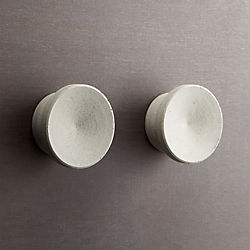 kast cement disk knobs set of two