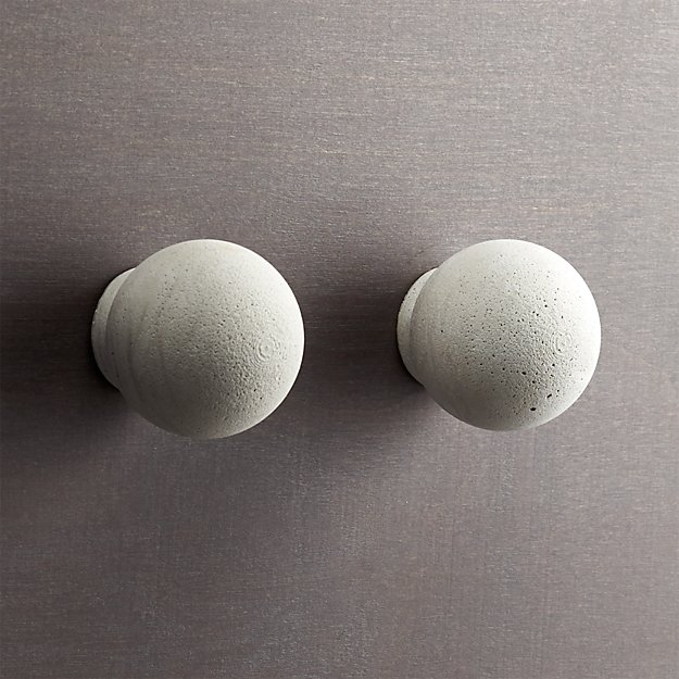 set of 2 kast cement globe drawer pulls
