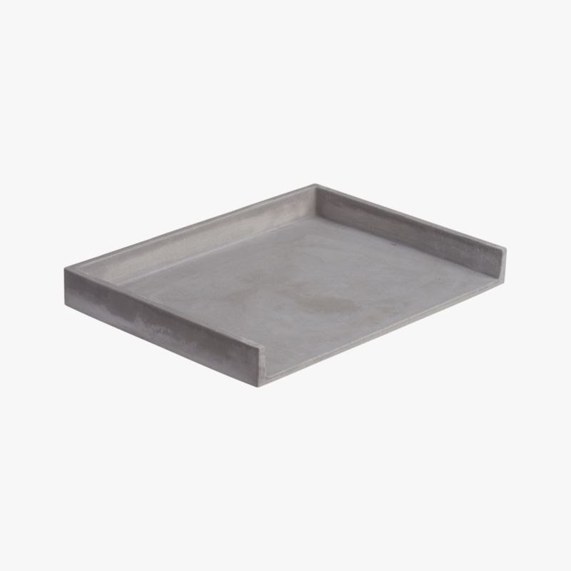 "<span class=""copyHeader"">concrete idea.</span> Stackable office staple cements an industrial spot for bills, notes and to-do's. Honed smooth in matte grey with natural intonations, concrete works a minimalist architectural touch in the office. Perfect office mates with cement pencil cup and catchall.<br /><br /><NEWTAG/><ul><li>100% concrete</li><li>Each will be unique</li><li>Stackable</li><li>Wipe with clean cloth</li></ul>"