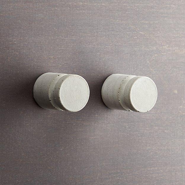 set of 2 kast cement pillar drawer pulls