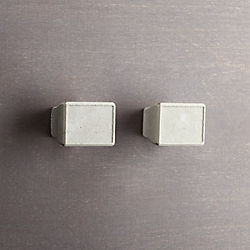 kast cement rectangular knobs set of two