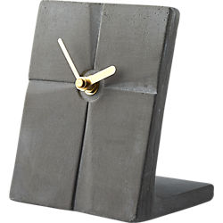 cement slab desk clock