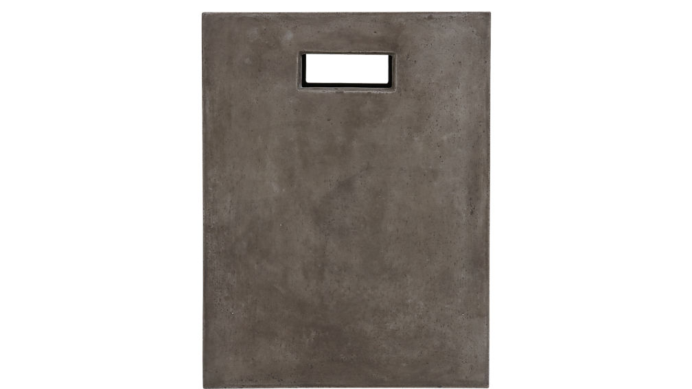 cement grey side table