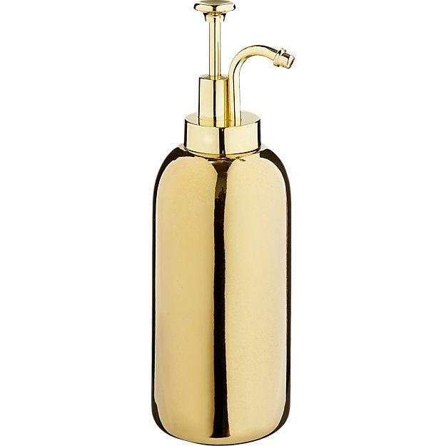 ceramic gold soap dispenser