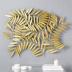 ceres gold leaves wall decor