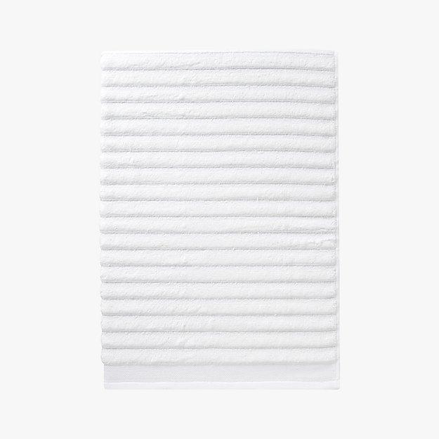 channel white cotton bath towel