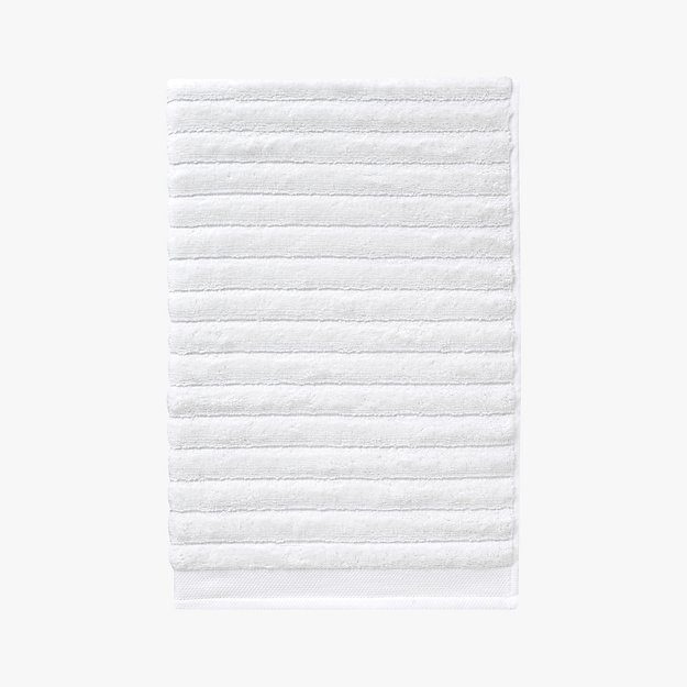 channel white cotton hand towel