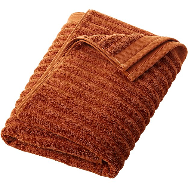 Channel Copper Cotton Bath Towel Cb2