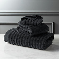 channel black bath towels