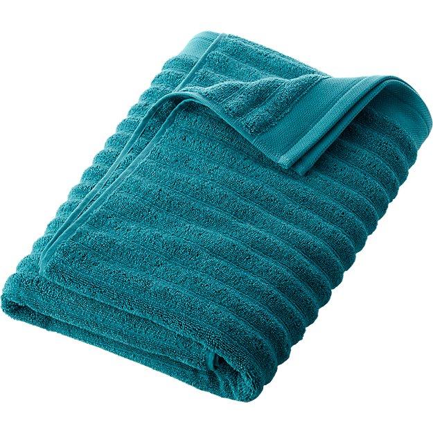 channel blue green cotton bath towel