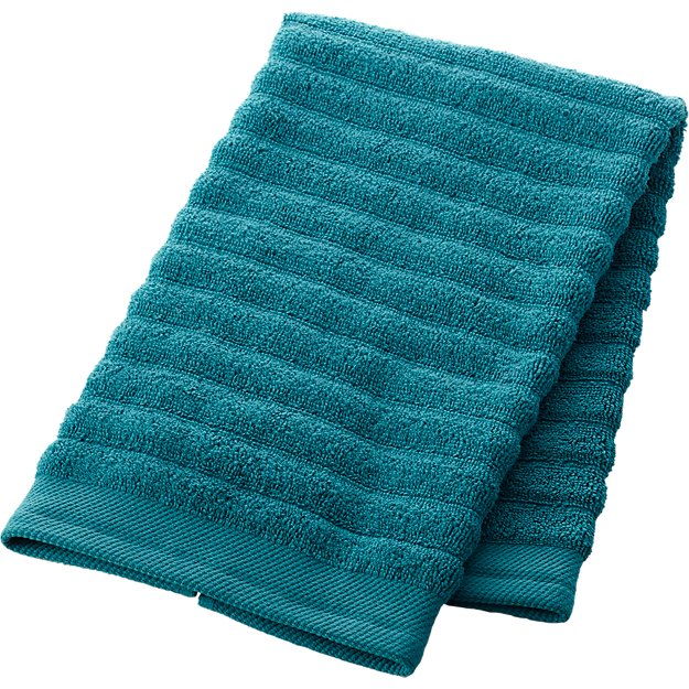 channel blue green cotton hand towel