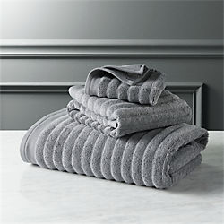 channel grey cotton bath towels