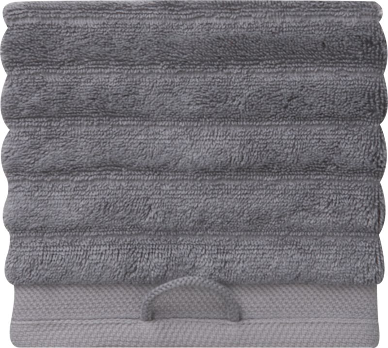 "<span class=""copyHeader"">get in line.</span> Raised fluffy grey ribs channel a silky blend of 65% rayon made from bamboo and 35% Egyptian cotton. Bordered in jacquard woven 100% cotton. Eco-friendly SKAL-certified dyes. Super soft, super absorbent, super spa.<br /><br /><NEWTAG/><ul><li>Ribbed channel design</li><li>Made with soft, highly absorbent (600 grams), pre-shrunk yarns</li><li>65% bamboo rayon, 35% Egyptian cotton</li><li>Machine wash warm, tumble-dry low</li></ul>"