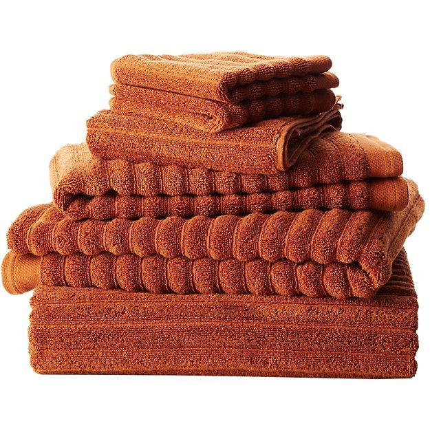 channel copper cotton bath towels