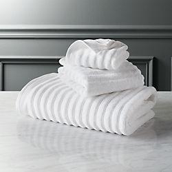 channel white cotton bath towels