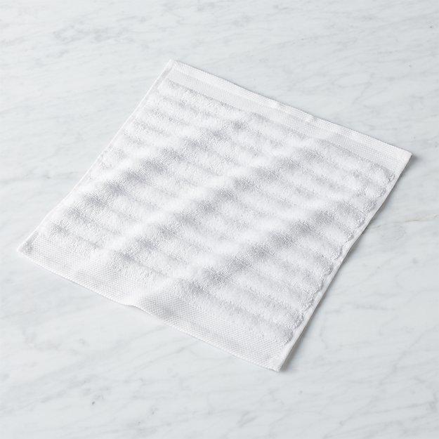 channel white cotton washcloth