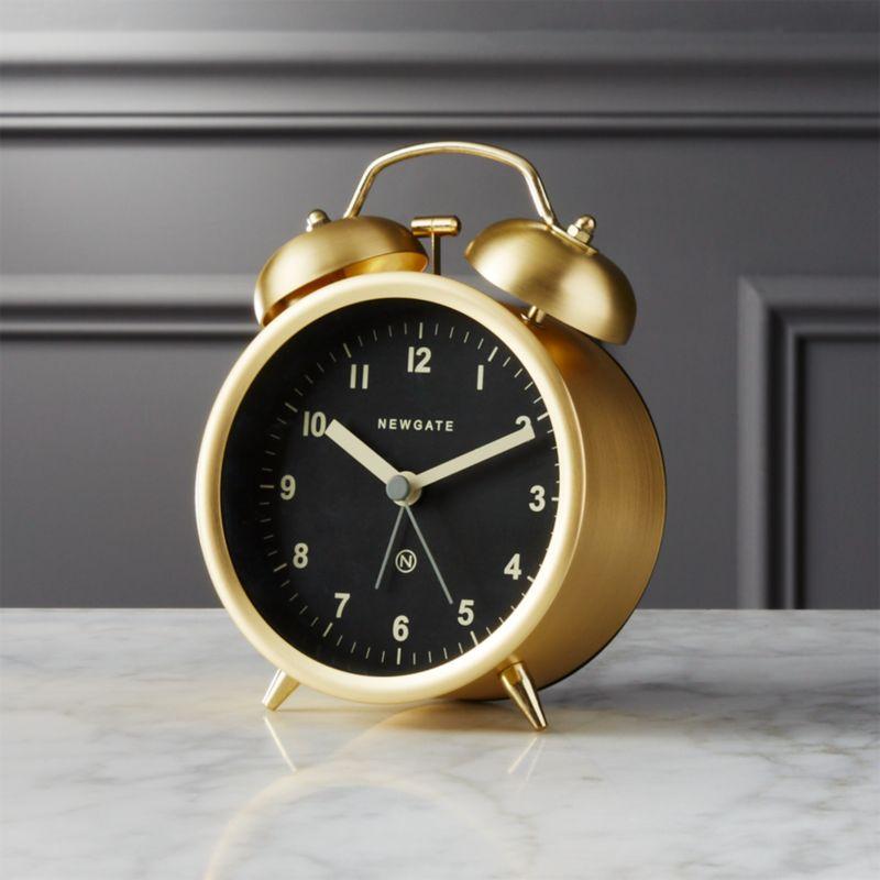 Charlie Gold Alarm Clock Cb2