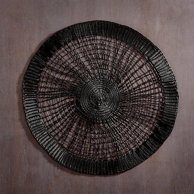 charlotte black placemat