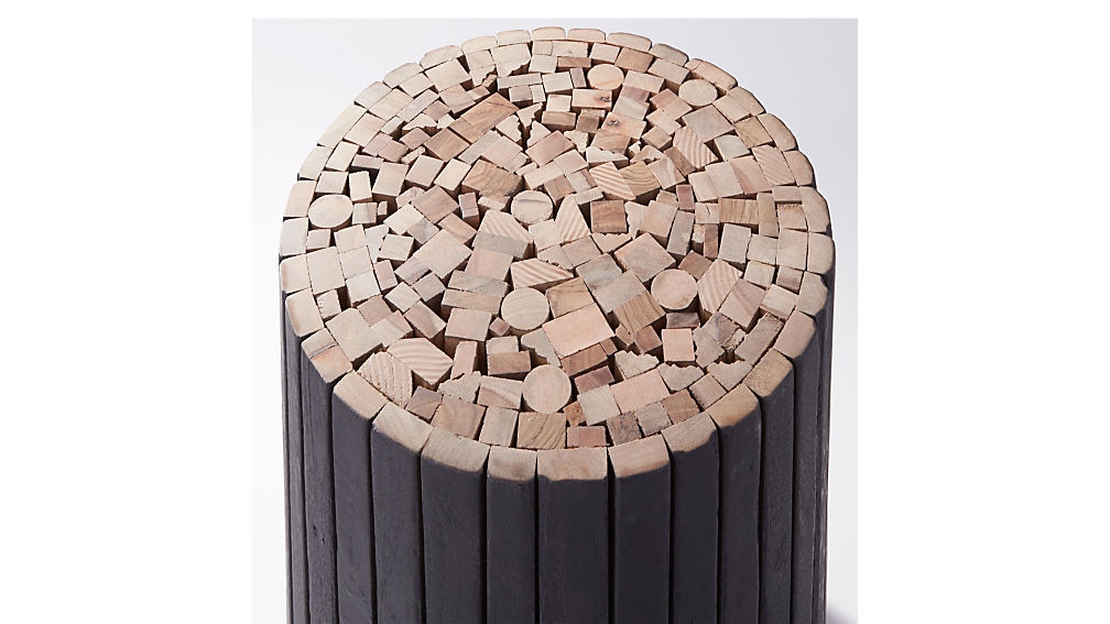charred puzzle table-stool