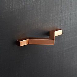 chevron copper handle