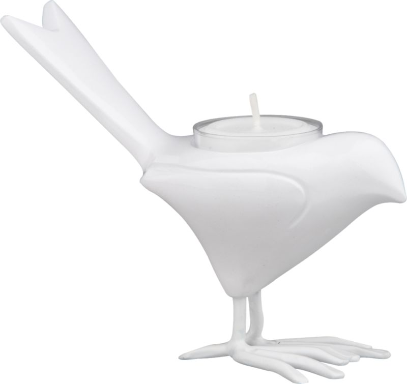 White Chick Candleholder - CB2