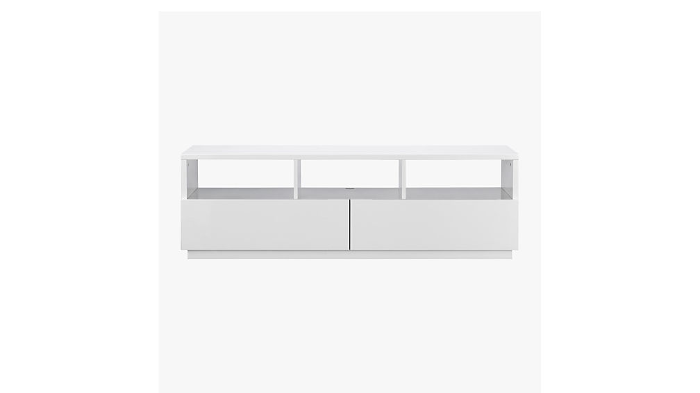 Chill White Media Console Cb2