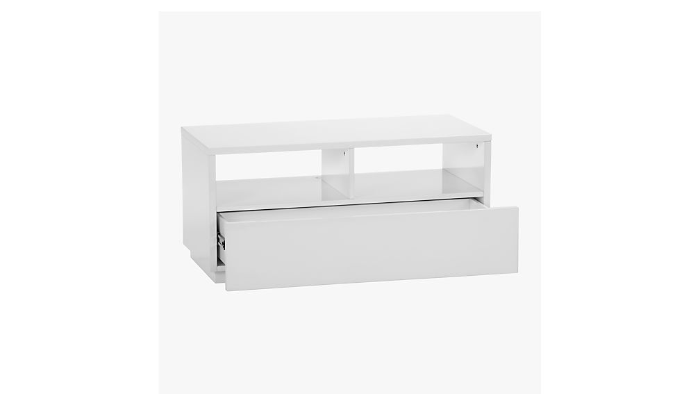 chill white mini media console