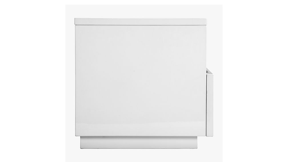 chill white mini media console