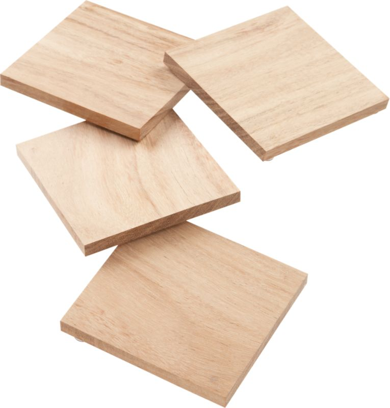 set of 4 chop coasters
