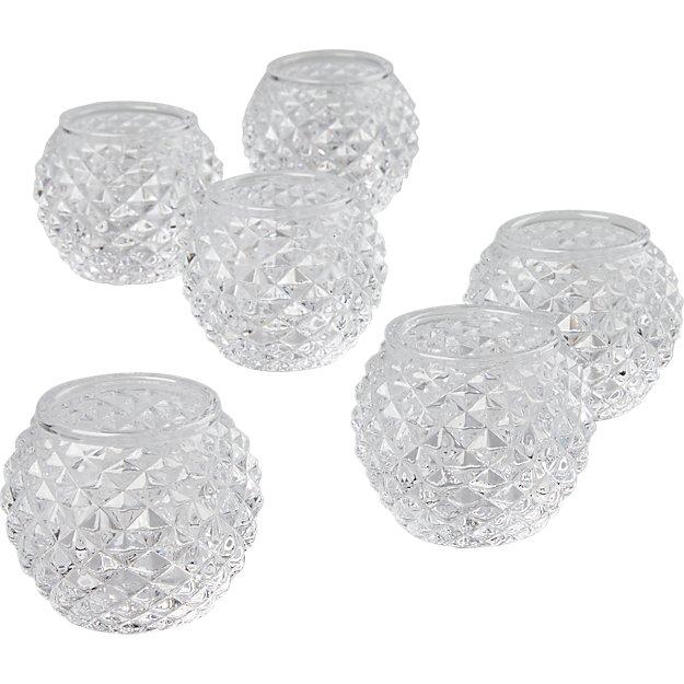 set of 6 chroma tea light candle holders