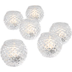 chroma tea light candle holders set of six