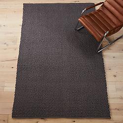 chunky grey rug