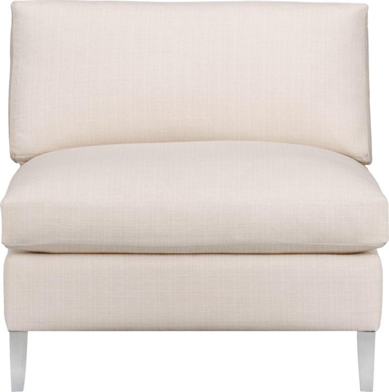 cielo ivory armless chair